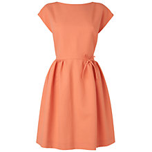 Buy Boutique by Jaeger Bow Waist Dress, Light Orange Online at johnlewis.com