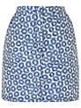 Boutique by Jaeger Floral Mini Skirt, Blue