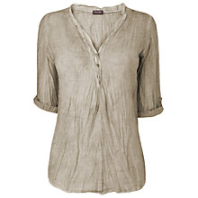 Buy Phase Eight Made in Italy Alison Crinkled Shirt, Washed Stone Online at johnlewis.com