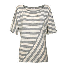 Buy Kaliko Cut About Striped Top, Grey/Ivory Online at johnlewis.com