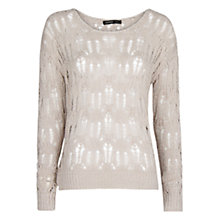 Buy Mango Metallic Jumper, Light Silver Online at johnlewis.com