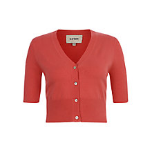 Buy Havren V-Neck Cropped Cardigan, Grapefruit Online at johnlewis.com