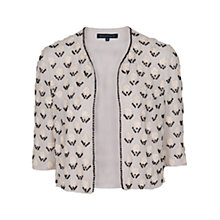 Buy French Connection Sequin Jacket, Edelweiss/Black Online at johnlewis.com