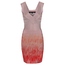 Buy French Connection Flame Bodycon Dress, Intimate Pink Online at johnlewis.com