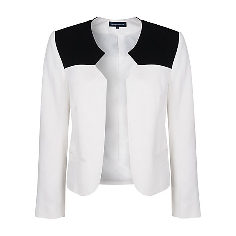 Buy French Connection Colour Block Jacket, Off White/Black Online at johnlewis.com