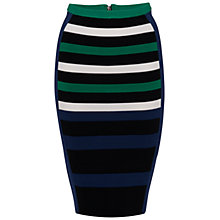Buy French Connection Riley Striped Skirt, Multi Online at johnlewis.com