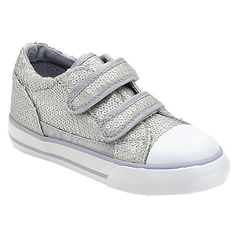 Buy Start-rite Garda Canvas Trainers, Silver Sequin Online at johnlewis.com