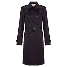 Buy John Lewis Belted Trench Coat, Navy Online at johnlewis.com
