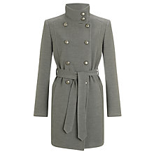 Buy John Lewis Ella Button Detail Coat, Grey Online at johnlewis.com