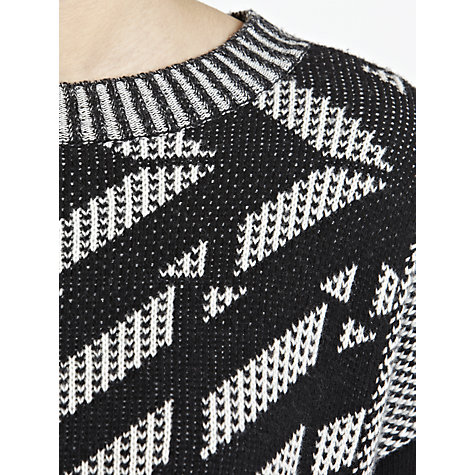 Buy Weekend by MaxMara Mix Print Jumper, Black Online at johnlewis.com