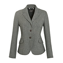 Buy Weekend by MaxMara Check Hacking Jacket, Dark Green Online at johnlewis.com