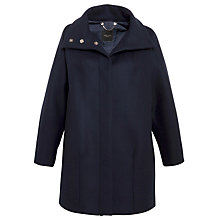 Buy Weekend by MaxMara Funnel Neck Coat, Navy Online at johnlewis.com