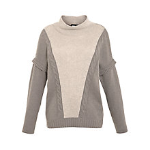 Buy Weekend by MaxMara Poncho Cable Knit Jumper, Dark Green Online at johnlewis.com