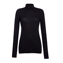 Buy Weekend by MaxMara Roll Neck Jumper, Black Online at johnlewis.com