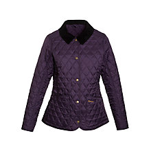 Buy Barbour Annandale Quilted Jacket, Grape Online at johnlewis.com