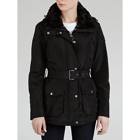Buy Barbour Outlaw Faux Fur Collar Jacket Online at johnlewis.com