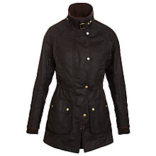 Buy Barbour International Stockyard Waxed Jacket, Rustic Online at johnlewis.com