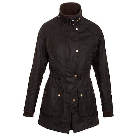 Buy Barbour Stockyard Waxed Jacket, Rustic Online at johnlewis.com