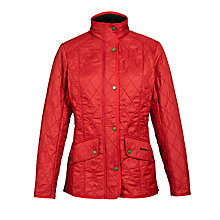Buy Barbour Cavalry Polarquilt Jacket, Red Online at johnlewis.com