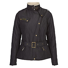 Buy Barbour International Matlock Quilt Jacket, Black Online at johnlewis.com