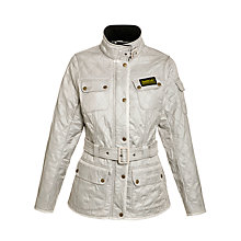 Buy Barbour International Polarquilt Jacket, Pearl Online at johnlewis.com
