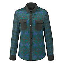 Buy Weekend by MaxMara Paisley Print Shirt, Emerald Green Online at johnlewis.com