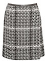 Weekend by MaxMara Check Tweed Skirt, Black