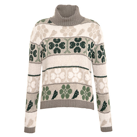 Buy Weekend By MaxMara Intarsia Rollneck, Turtle Dove Online at johnlewis.com