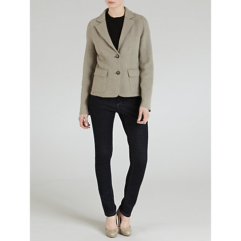 Buy Weekend by MaxMara Boiled Wool Jacket, Turtle Dove Online at johnlewis.com