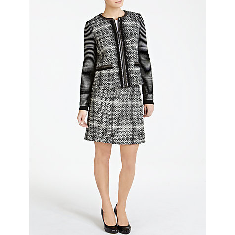 Buy Weekend by MaxMara Faux Leather Trim Jacket, Black Online at johnlewis.com