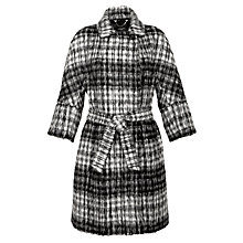 Buy Weekend by MaxMara Check Mohair Blend Coat, Black Online at johnlewis.com