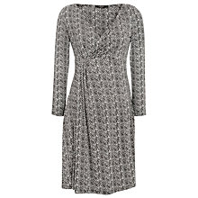 Buy Weekend by MaxMara Chevron Print Jersey Dress, Black Online at johnlewis.com