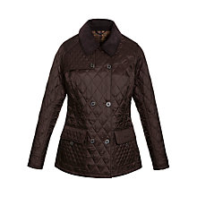 Buy Barbour Acacia Quilted Jacket, Dark Brown Online at johnlewis.com