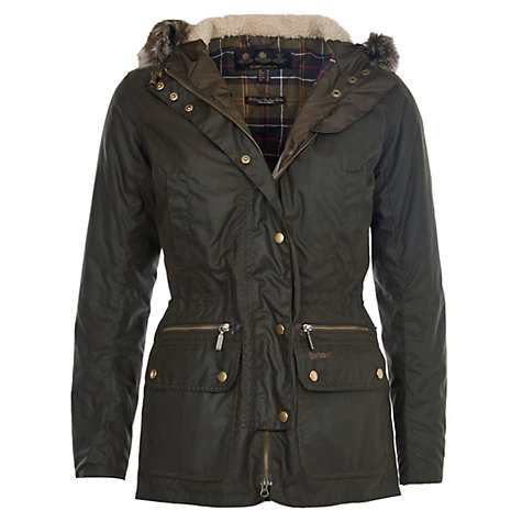 Buy Barbour Kelsall Hooded Jacket, Olive Online at johnlewis.com