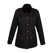 Buy Barbour Beadnell Polarquilt Jacket, Black Online at johnlewis.com