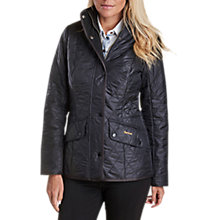Buy Barbour Cavalry Polarquilt Jacket, Black Online at johnlewis.com