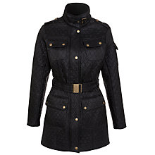 Buy Barbour Folly Longer Jacket, Black Online at johnlewis.com