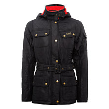 Buy Barbour International Viper Hooded Jacket, Black Online at johnlewis.com