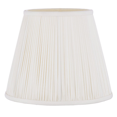 Buy John Lewis Isadora Pleat Tall Tapered Shade, Ivory Online at johnlewis.com