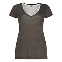 Buy Jigsaw Double Layer Linen T-Shirt Online at johnlewis.com