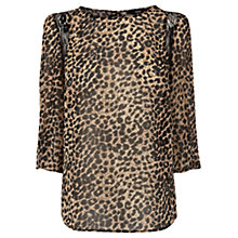 Buy Oasis Animal Lace Insert Top, Multi Online at johnlewis.com
