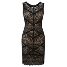 Buy Oasis Lace Bodycon Dress, Black Online at johnlewis.com