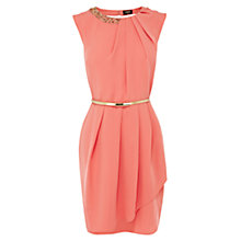 Buy Oasis Paloma Embellished Dress, Coral Online at johnlewis.com