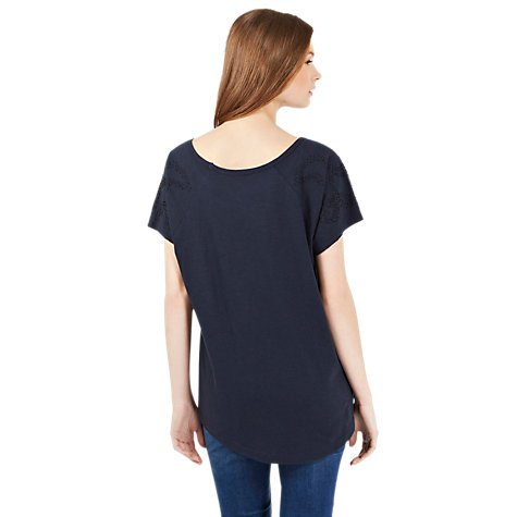Buy Oasis Slub T-Shirt, Navy Online at johnlewis.com