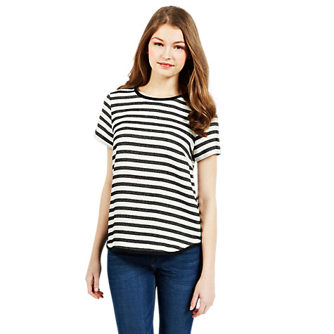 Buy Oasis Striped Bouclé Top, Multi Online at johnlewis.com
