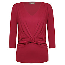 Buy Alexon Ruched Jersey Top, Red Online at johnlewis.com