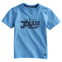 Buy Little Joule Tiller Rugby Printed T-Shirt, Blue Online at johnlewis.com
