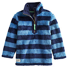 Buy Little Joule Woozle Striped Fleece, Blue Online at johnlewis.com