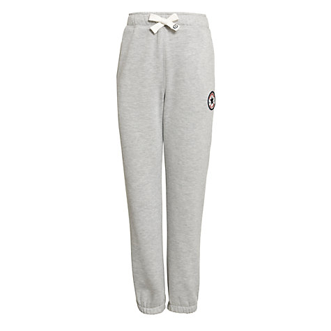 Buy Converse Boys' Chuck Patch Cuffed Fleece Joggers, Grey Online at johnlewis.com
