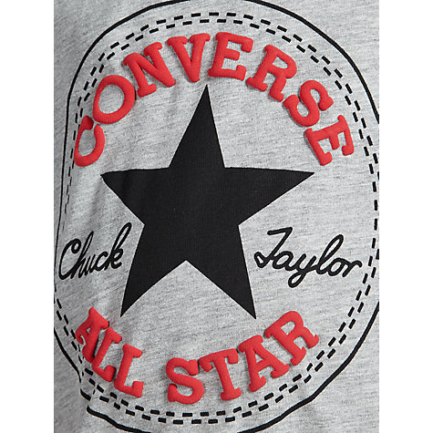 Buy Converse Boys' Chuck Patch T-Shirt, Grey Online at johnlewis.com